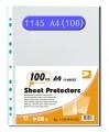 DATA BANK #1145  A4透明資料袋(100個/盒)