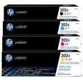 HP CF500X,CF501X,CF502X,CF503X #202X (原裝)Laser Toner(黑色,紅色,藍色,黃色)