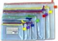 GLOBE SP-A4 銀牙網紋拉鍊袋 (有咭片袋) (單拉鍊)(350x250mm)