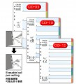 DATA BANK #CID-10 十級彩色膠INDEX(1套/包)