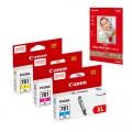 CANON CLI-781XL  墨盒(黃色,紅色,藍色)